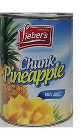 Lieber's Chunk Pineapple, 20 Oz