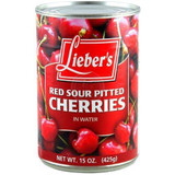 Lieber's Red Sour Cherries In Water, 425g