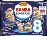 Osem Bamba Peanut Puffs 8 Family Pack, 160g