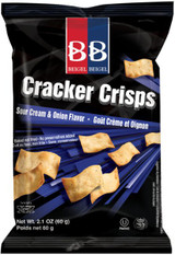 Beigel Beigel Cracker Crisps Nish Nosh Sour Cream & Onion Flavor, 60g