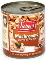 Lieber's Stems & Pieces Mushrooms, 113g
