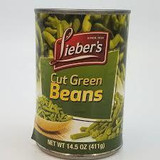 Lieber's Cut Green Beans, 411g