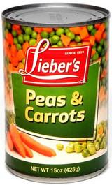 Lieber's Peas & Carrots, 425g