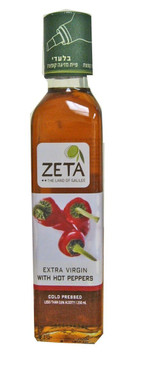 Zeta Extra Virgin Hot Peppers Flavored Olive Oil, 250ml