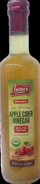 Lieber's Organic Raw Apple Cider Vinegar, 500ml