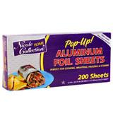 Nicole Pop-Up Aluminum Foil Sheets, 200pk