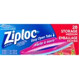 Ziploc Easy Open Tabs Medium Bags 28pk