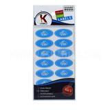 Kosher Labels Blue Dairy Hebrew 18pk