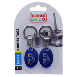 The Kosher Cook Blue Dairy Kosher Tags