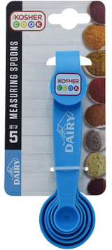 The Kosher Cook Blue Dairy Measuring Spoons 5pk