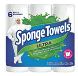 Sponge Towels Ultra Paper Towels, 6 Rolls/pk