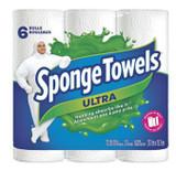 Sponge Towels Ultra Paper Towels, 6 Rolls/pk