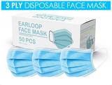 Disposable Face Masks 50pk
