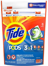 Tide Pods Laundry Detergent 3 in 1, 33 Pacs