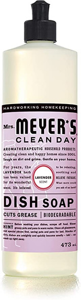 Mrs. Meyer's Clean Day Dish Soap, 473ml, Lavender