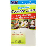 """Nicole Disposable Counter Liners, 26"""" x 26"""", 15ct"""