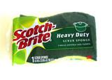 """Scotch-Brite Heavy Duty Scrub Sponge 4.4"""" x 2.6"""", 1pk"""