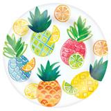 """Citrus Melamine 9.5"""" Plate, 1pk"""