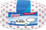 """Basix 7"""" White Disposable Plastic Plates, 100pk"""