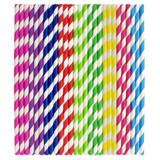 Paper House Paper Straws Assorted Colors, 150pk