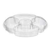 IP 42 Oz Party Platter Sectional Tray With Cover