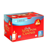 Ner Mitzvah 4 Hour Neironim Candles, 72pk