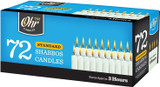 Ohr 3 Hour Standard Shabbos Candles, 72pk