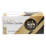 L'ner 3 Hour White Candles, 72pk
