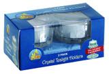 Ner Mitzvah Crystal Tea Light Holders, 2pk
