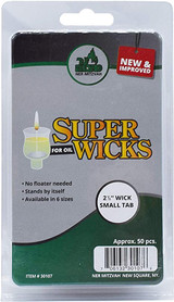 "Ner Mitzvah 2.5"" Super Wicks, 50pk"