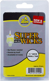 "Ner Mitzvah 1.5"" Super Wicks, 50pk"