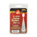 Ner Mitzvah 9 Layer Safety Rubber Set, 2pk