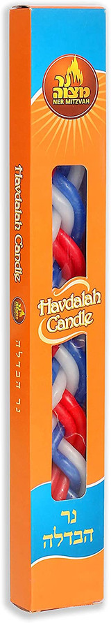Ner Mitzvah Multi-Colored Havdalah Candle
