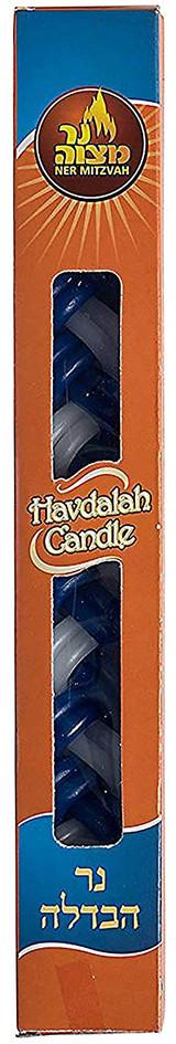 Ner Mitzvah Blue & White Havdalah Candle