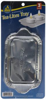 Ner Mitzvah Tea-Lites Tray, 3pk
