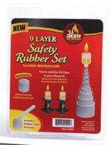 Ner Mitzvah 9 Layer Safety Rubber Set, Large