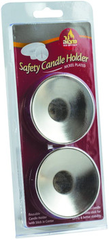 Ner Mitzvah Candle Safety Holder, 2pk