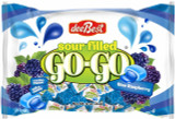 DeeBest Blue Raspberry Sour Filled Go-Go Candies, 16 Oz