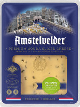 Amstelvelder Premium Gouda Sliced Cheese With Chives, 125g