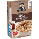 Quaker Instant Oatmeal Maple & Brown Sugar, 344g