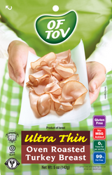 Of Tov Ultra Thin Oven Roasted Turkey Breast, 125g