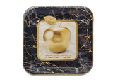 "Shana Tova 7"" Square Marble Plates, 10pk"