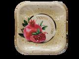 """Shana Tova Umesuka 9"""" Square Pomegranate Plates, 10pk"""