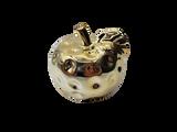 Small Ceramic Plated Apple Decoration
