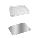 1.5lb | 2 1/4lb Oblong Aluminum Pan Lids - Fits 2061/2062