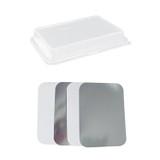 5lb Oblong Aluminum Pan Lids