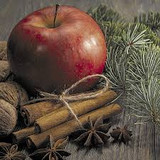 P+D Apple Cinnamon Lunch Napkins, 20pk
