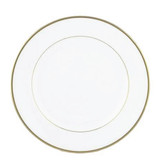 "Exquisite 10.25"" White With Gold Band Plates (10 Count)"