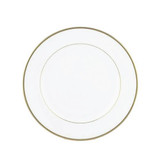 "Exquisite 7.5"" White With Gold Band Plates (10 Count)"