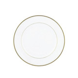 "Exquisite 6"" White With Gold Band Plates (10 Count)"